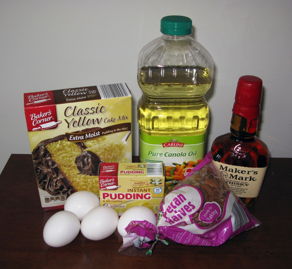 Mint Julep Bundt Cake Ingredients