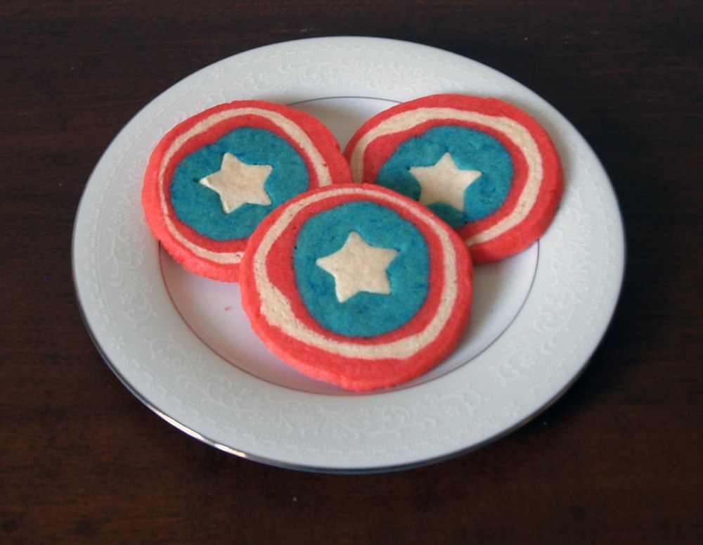 Captain America's Shield Cookies