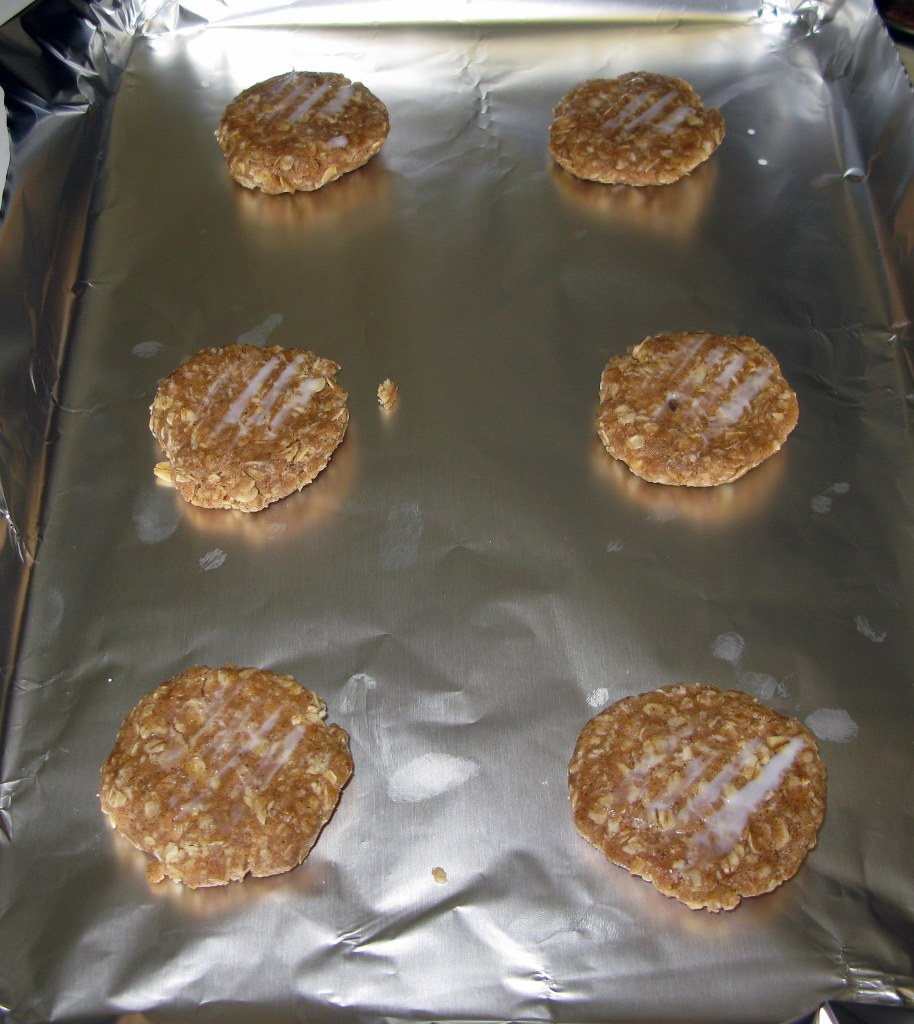 Iced Oatmeal Cookie Discs