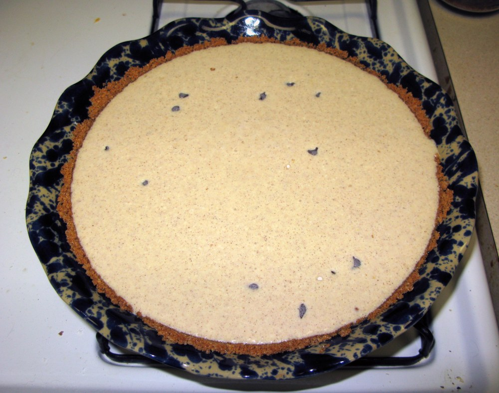 Cannoli Pie Before Baking