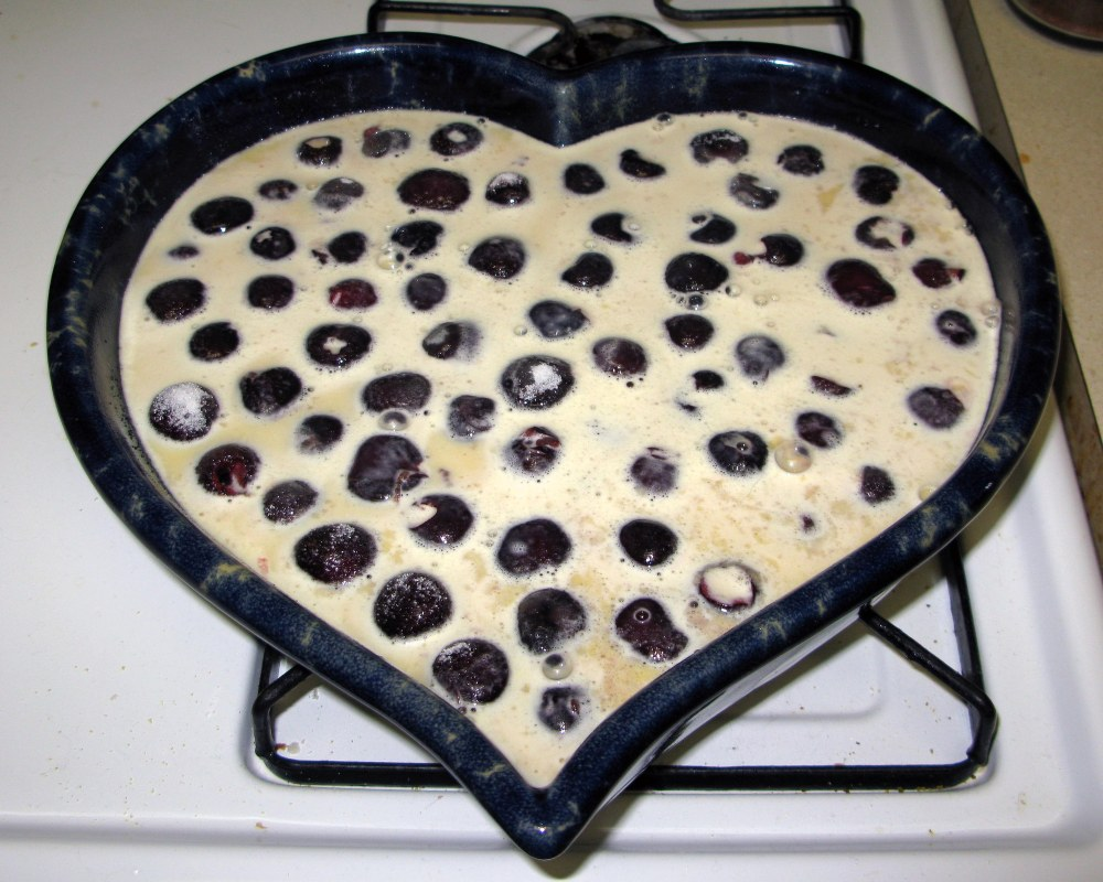 Clafoutis Before Baking