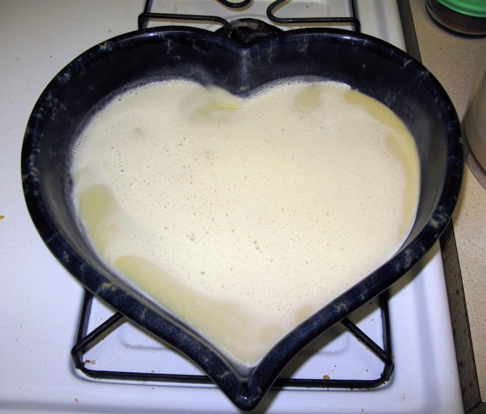 Clafoutis Bottom Layer Before Baking