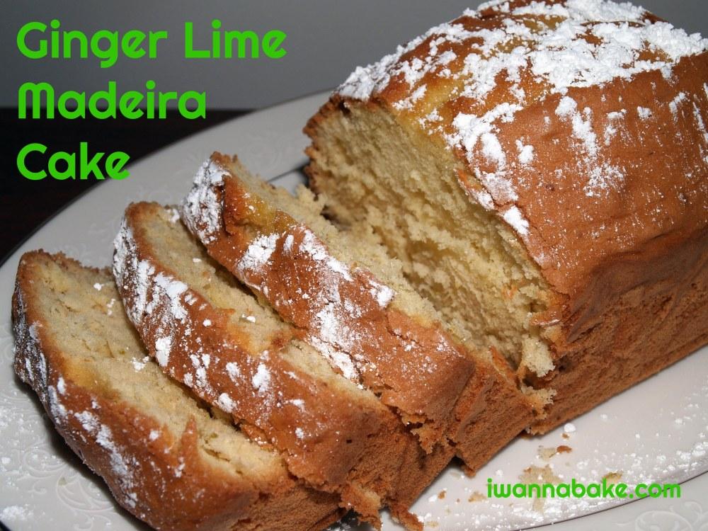 Ginger Lime Madeira Cake