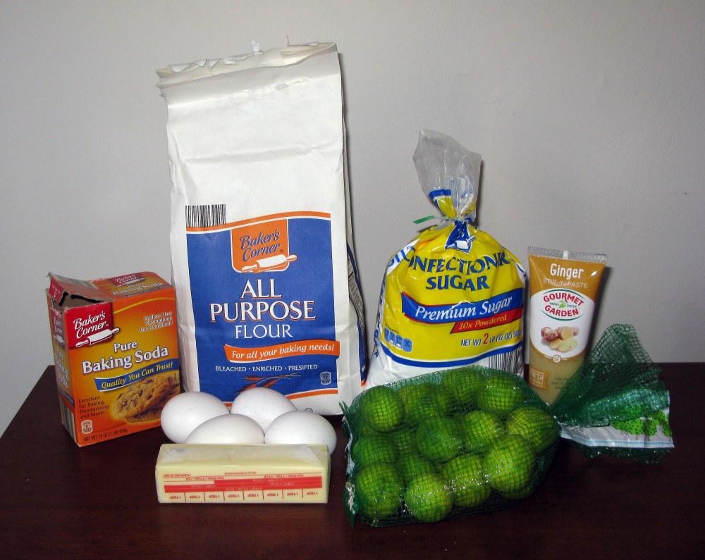 Ginger Lime Madeira Cake Ingredients