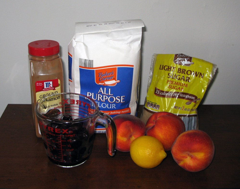 Cherry Peach Crisp Filling Ingredients