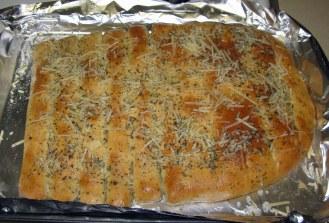Garlic Herb Breadsticks with Parmesan Herb Topping