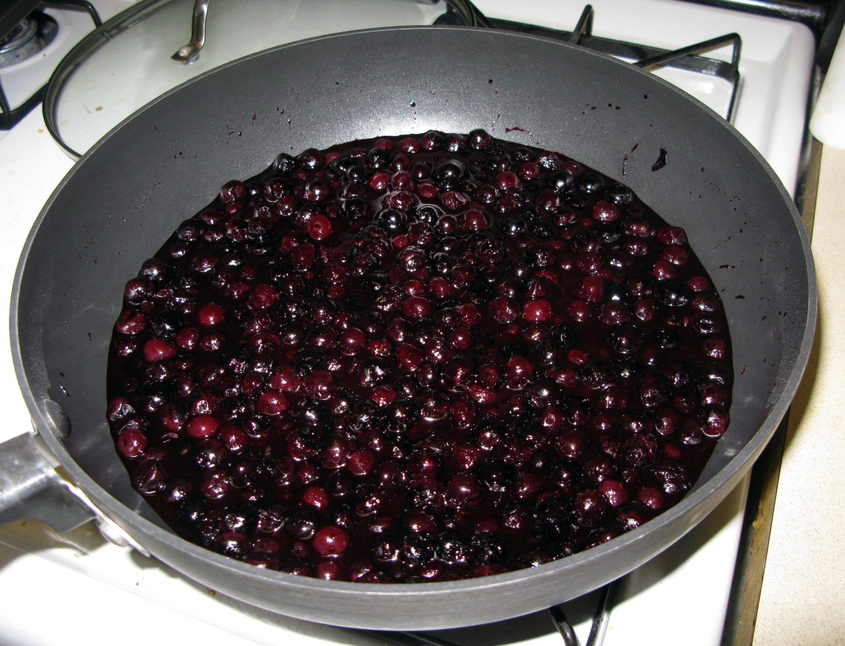 Blueberry Filling Before Thickening