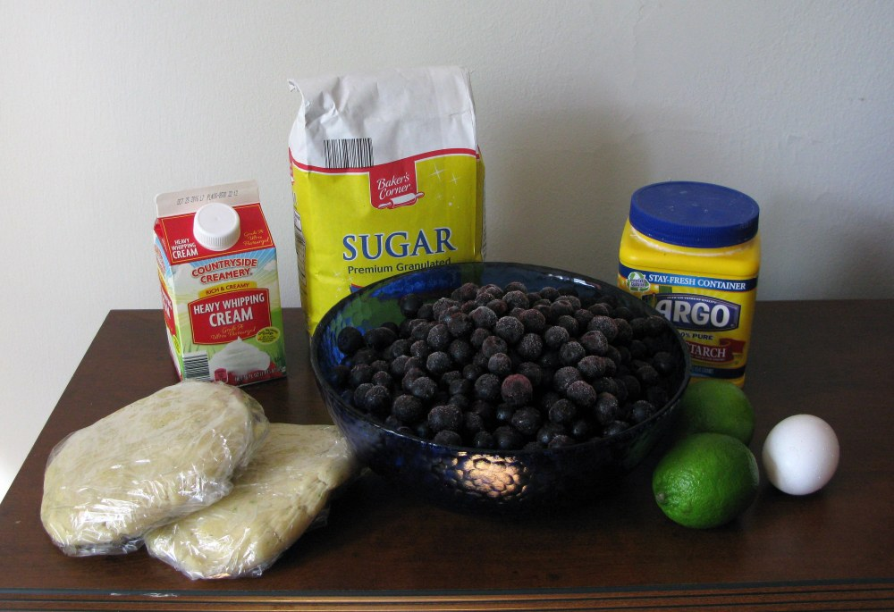 Blueberry Lime Pie Ingredients