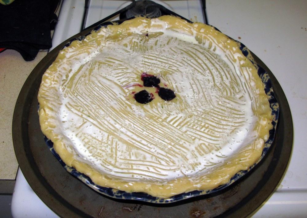 Pie Crust Brushed with Cream