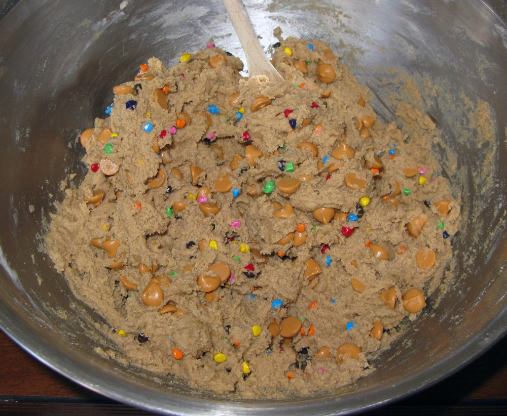 Unicorn Poop Cookie Dough with Mix-Ins