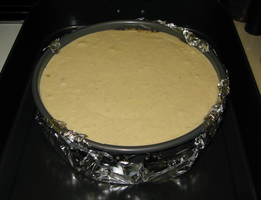 Apple Honey Cheesecake Before Baking