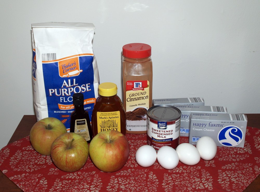 Apple Honey Cheesecake Ingredients