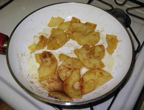 Apple Slices After Frying