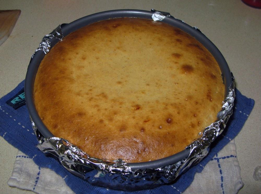 Baked Apple Honey Cheesecake