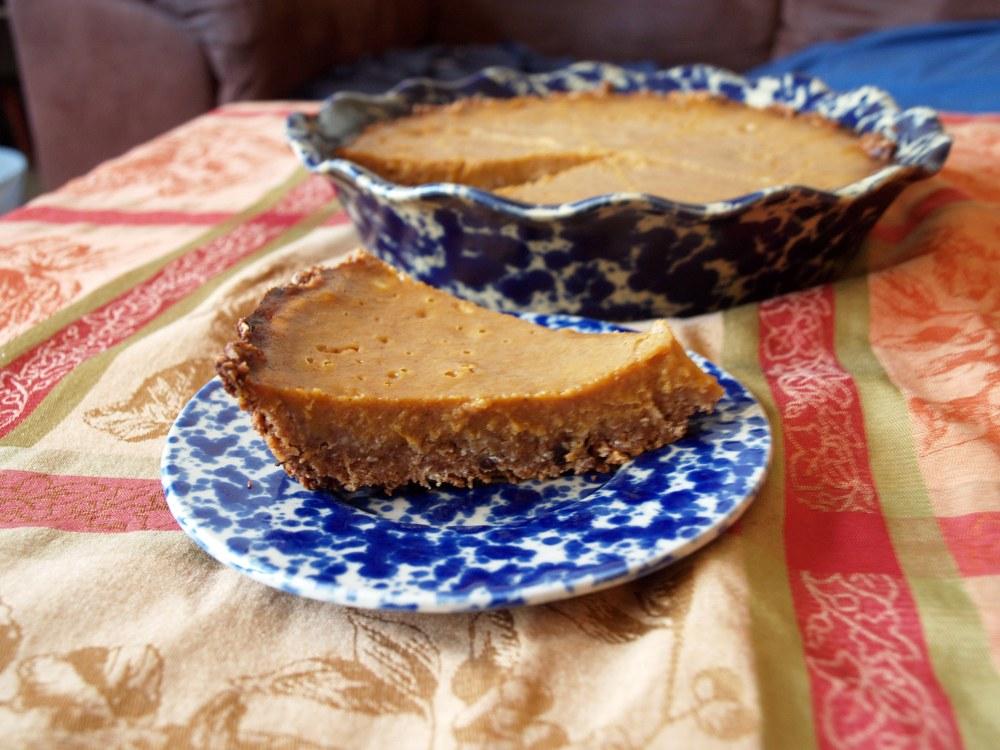 Butternut Squash Pie with Granola Crust