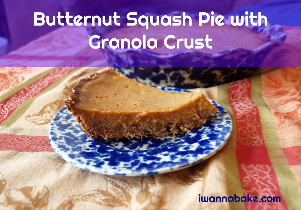 Butternut Squash Pie with Granola Crust