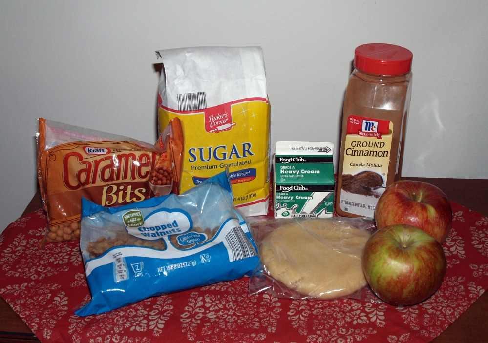 Caramel Walnut Apple Dumpling Ingredients