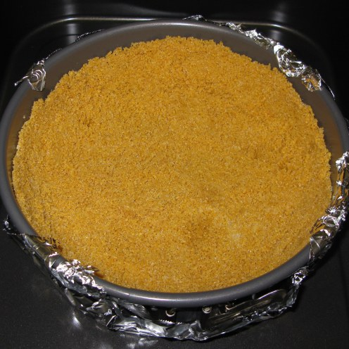 Honey Nut Chex Crust After Baking