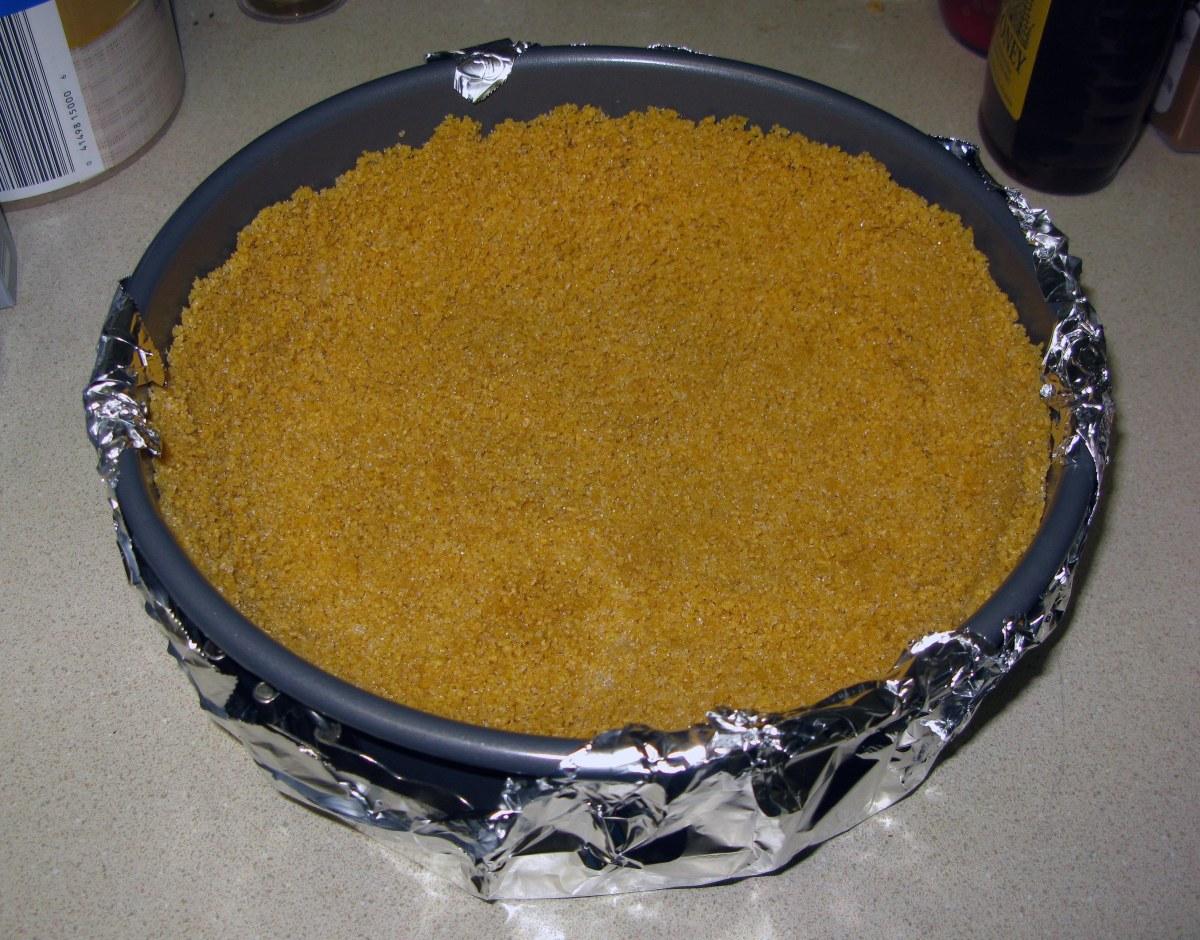 Honey Nut Chex Crust Before Baking