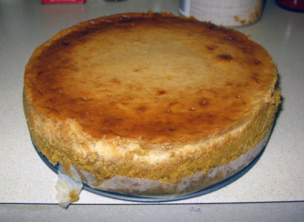 Unmolded Apple Honey Cheesecake