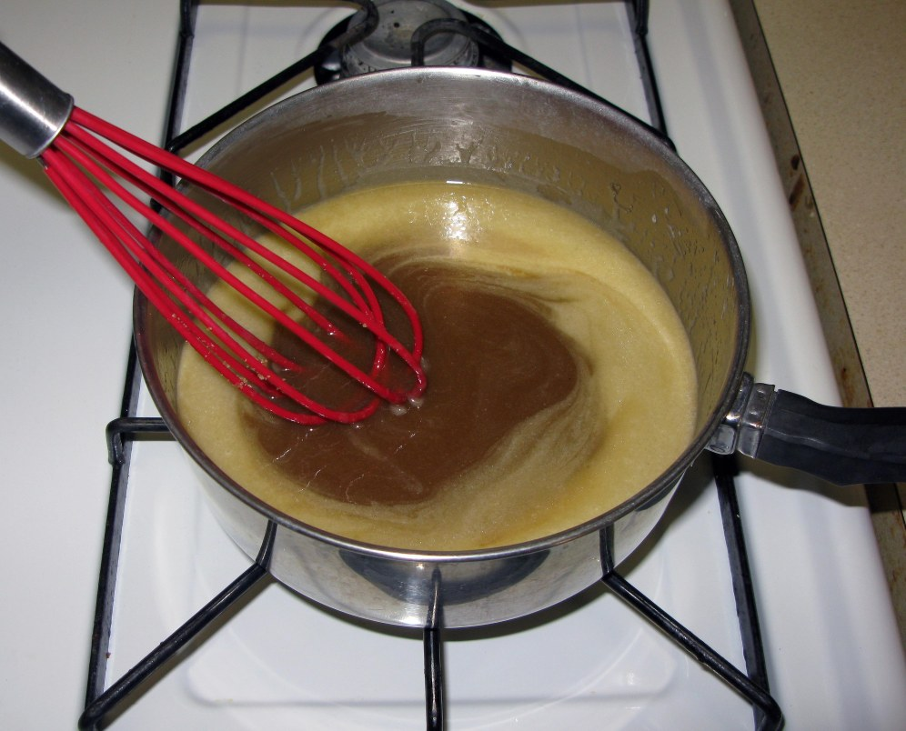 Caramel Ingredients Dissolving