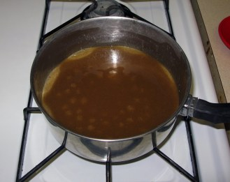 Caramel Beginning to Boil