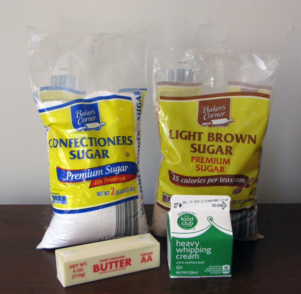 Caramel Frosting Ingredients