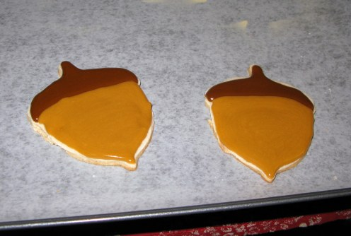Finished Acorn Cookies