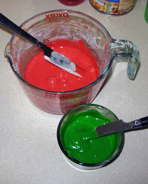 Red and Green Icing