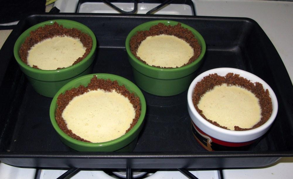 Eggnog Pies Before Baking