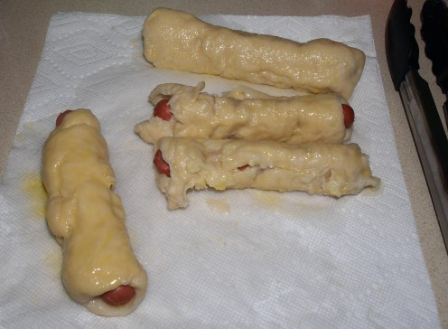 Bagel Dogs with Egg Wash
