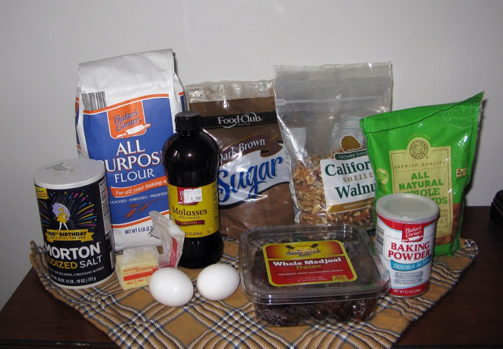 Date and Walnut Cake Ingredients