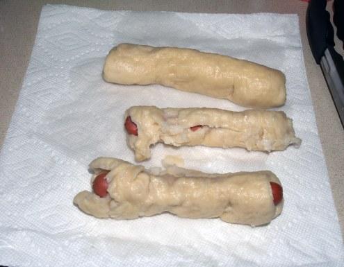 Draining Bagel Dogs