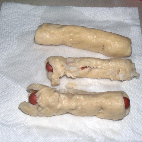 Draining Bagel Dogs