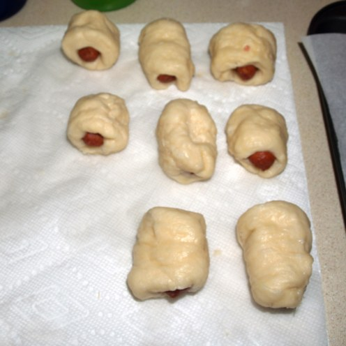 Draining Mini Bagel Dogs