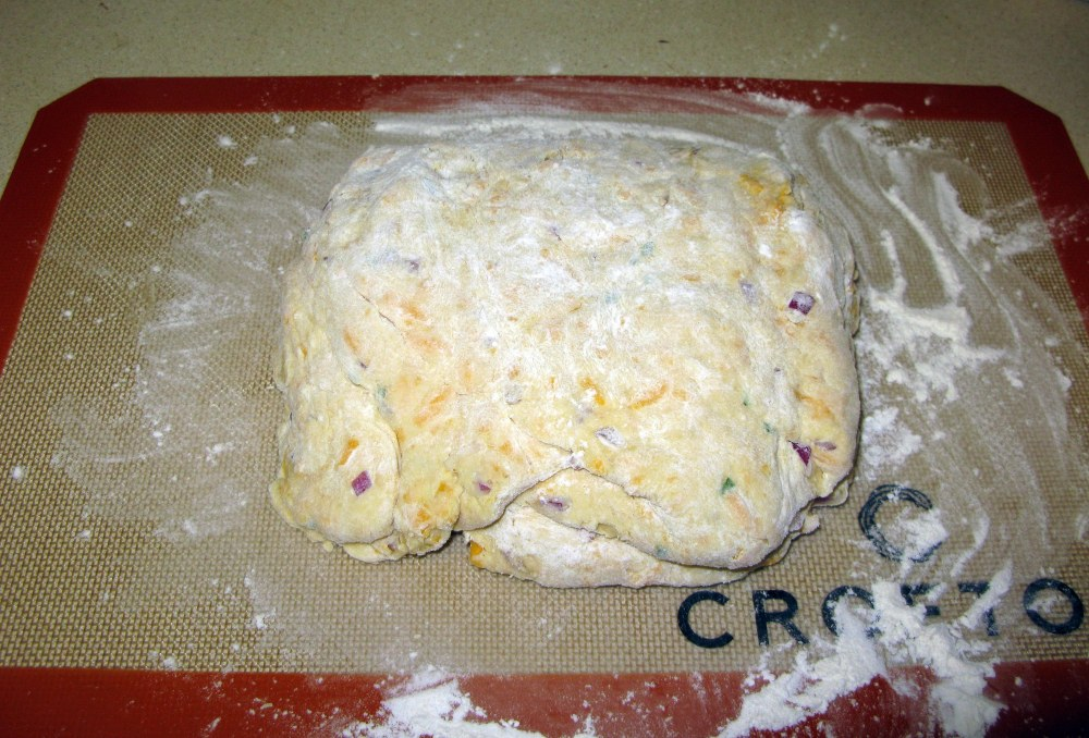 Cheddar and Chive Scone Kneading Process Part 4