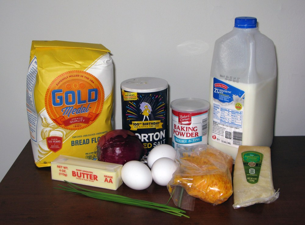 Cheddar and Chive Scone Ingredients