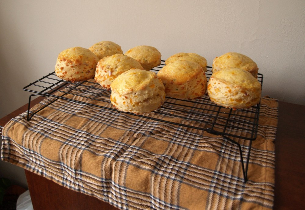 Cooling Cheddar and Chive Scones