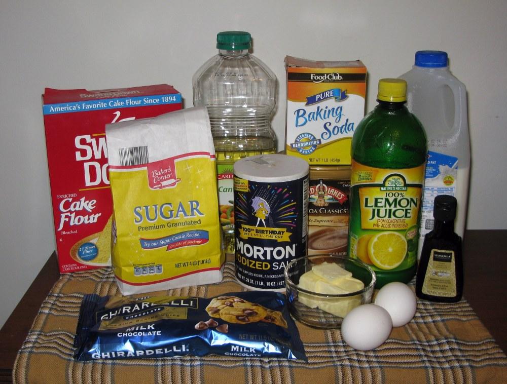 Hot Chocolate Cupcake Ingredients