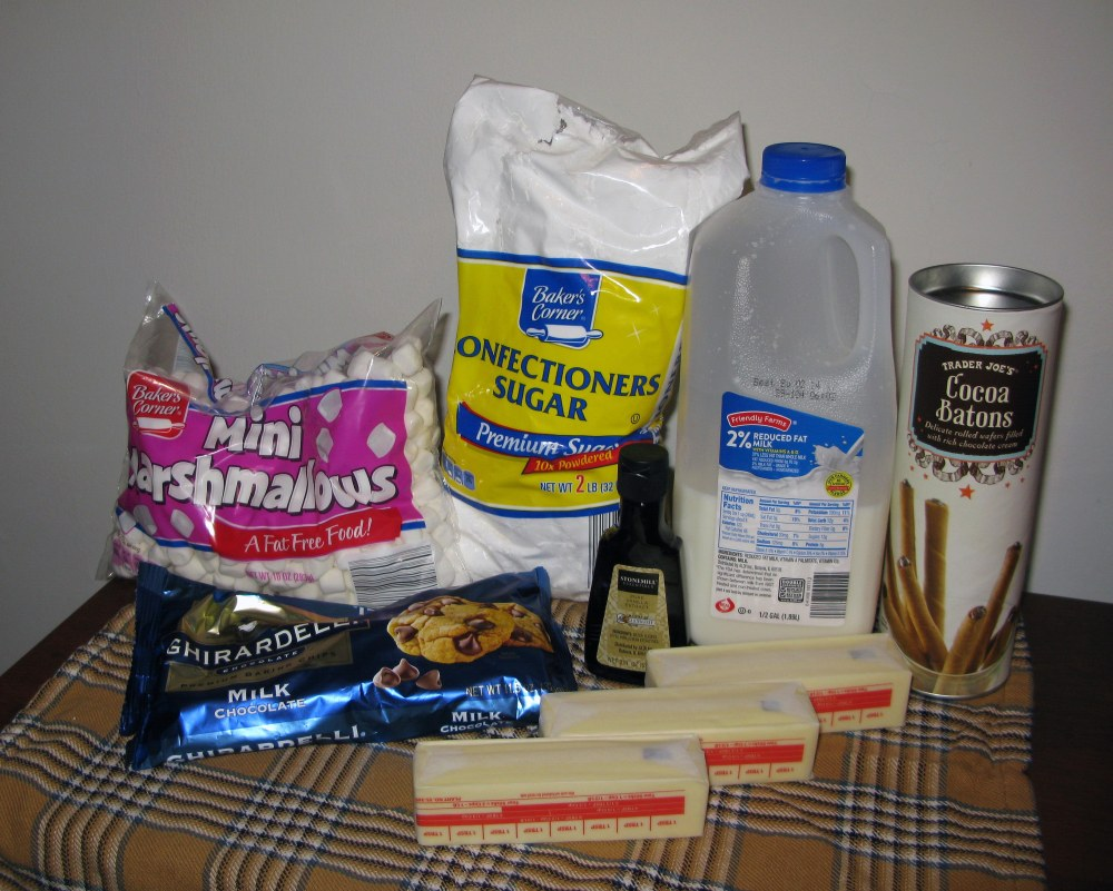 Milk Chocolate Frosting Ingredients