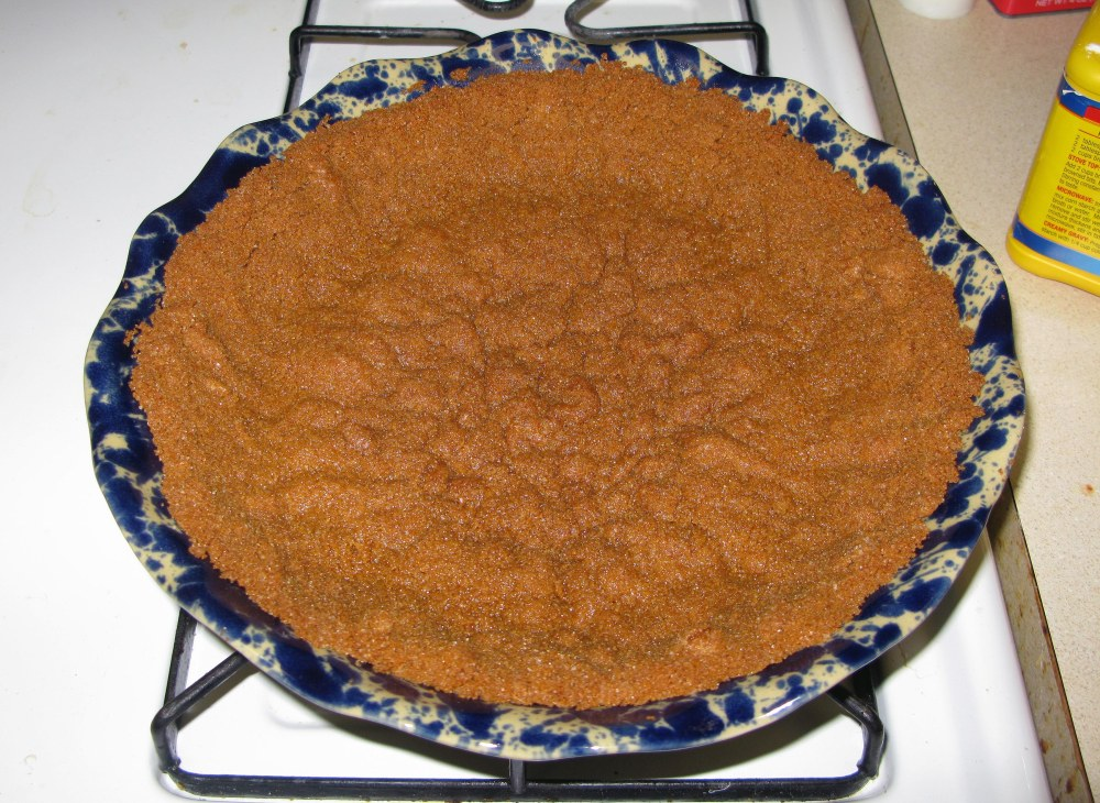 Gingersnap Crust After Baking