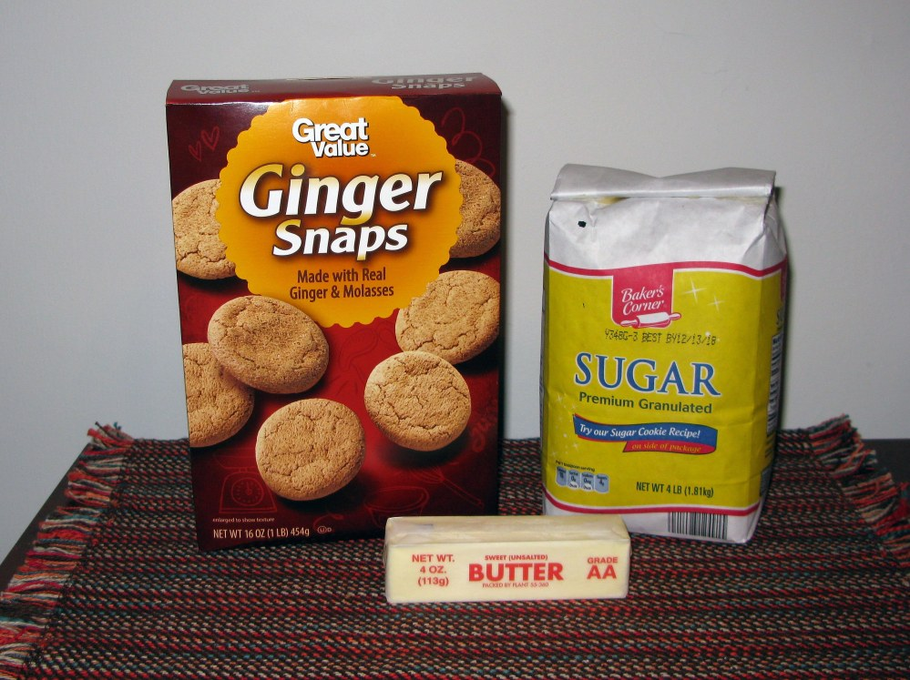 Gingersnap Crust Ingredients