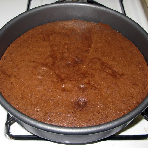 Coffee Chocolate Cake After Baking