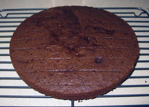 Coffee Chocolate Cake Cooling
