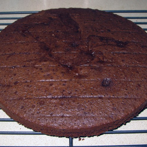 Coffee Chocolate Cake Cooling