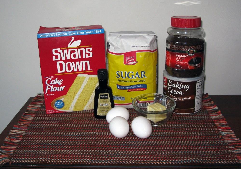 Coffee Chocolate Cake Ingredients