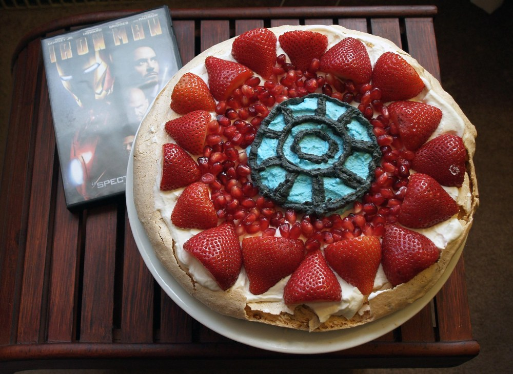 Iron Man's Arc Reactor Pavlova
