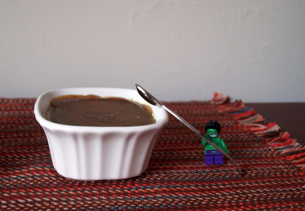 The Incredible Hulk's Spiced Guava Creme Brulee
