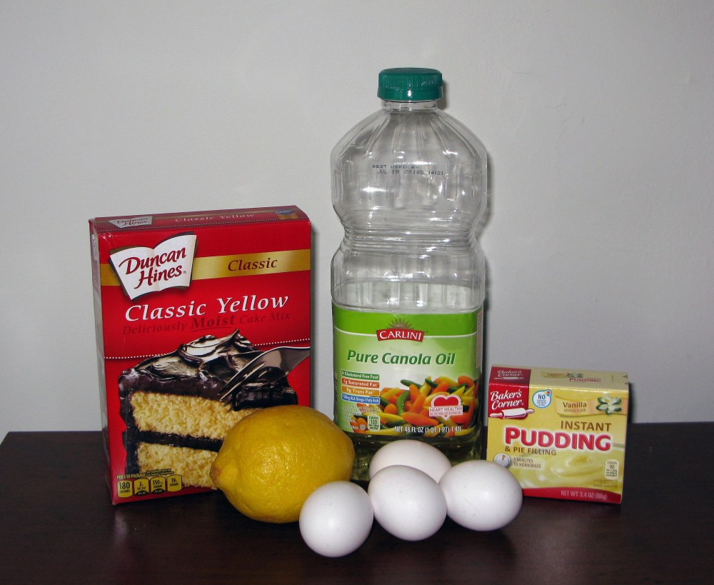 Lemon Cake Ingredients