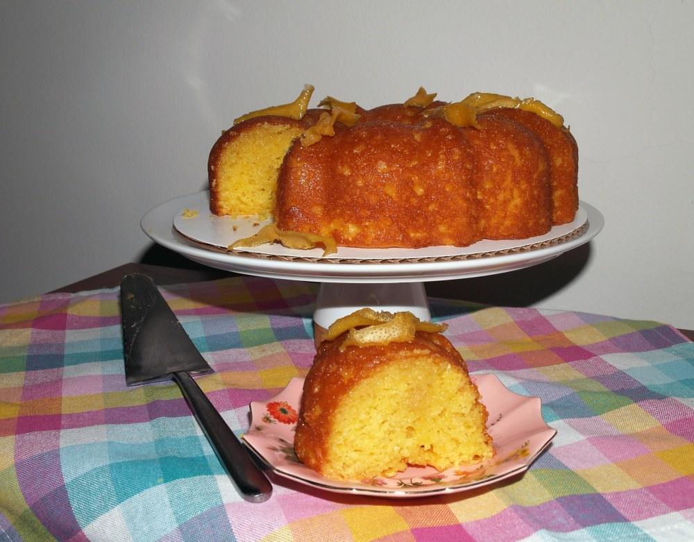 Lemon Juniper Bundt Cake Slice